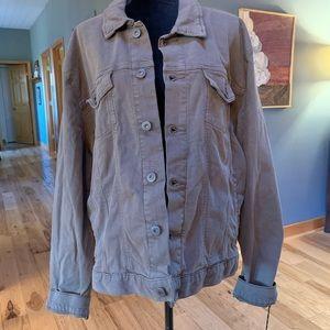 NWT Goodfellow Olive Canvas/Denim jacket